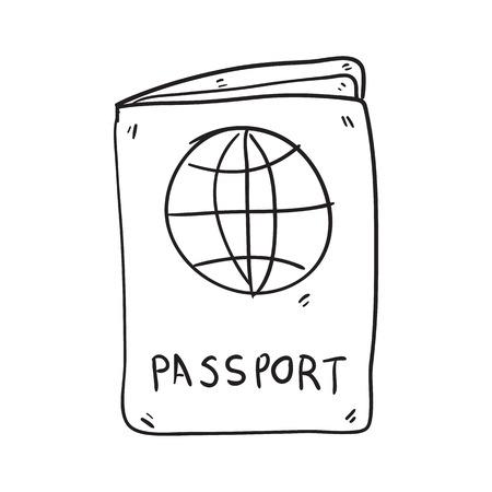 passport doodle sketch hand drawn vector illustration