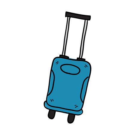 luggage doodle sketch hand drawn vector illustration