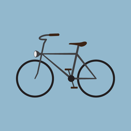pedaling: retro bicycle. vector illustration