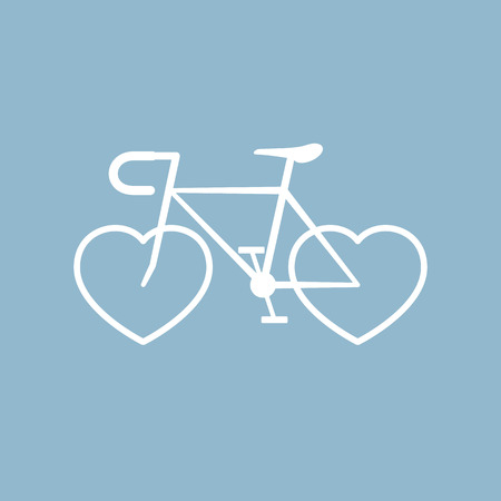 love: bicycle with heart shape. vector illustration Illustration