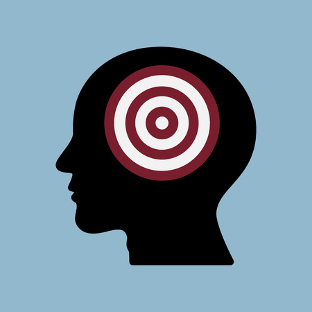 advantages: target goal in human head, goal achieve concept. Illustration