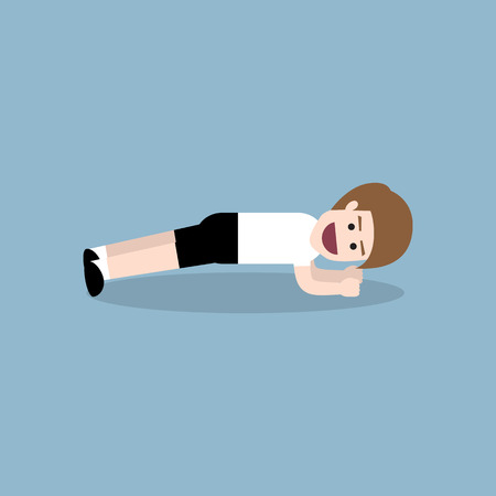 planking: planking exercise by fitness man, fitness exercise concept.