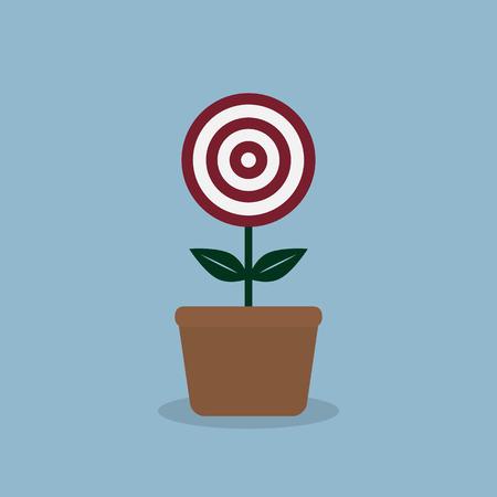 plant pot: target plant pot, goal concept.