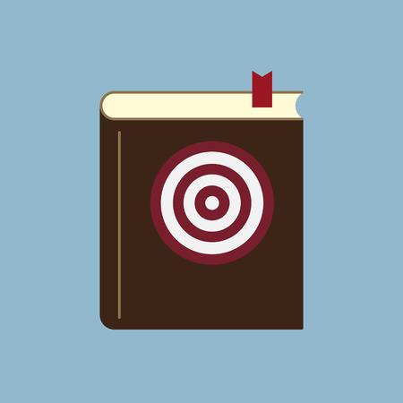 goal setting: target goal setting book, goal planning idea concept. vector illustration Illustration