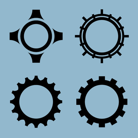 gear icon set vector illustration