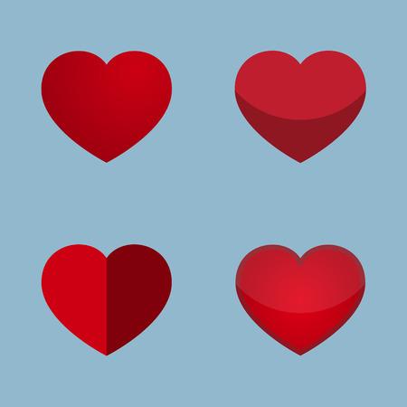 red heart icon love concept vector illustration Illustration