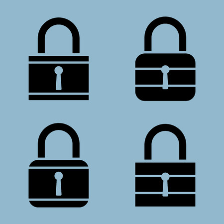 lock icon set vector illustration