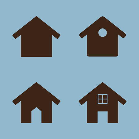 habitats: house icon set vector illustration Illustration