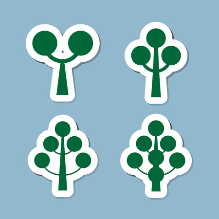 tree icon set illustration
