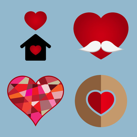 age old: love icon set vector illustration