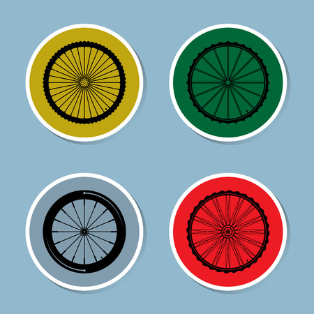 spoke: bicycle wheel icon set vector illustration Illustration