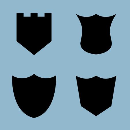 honour guard: shield icon set vector illustration