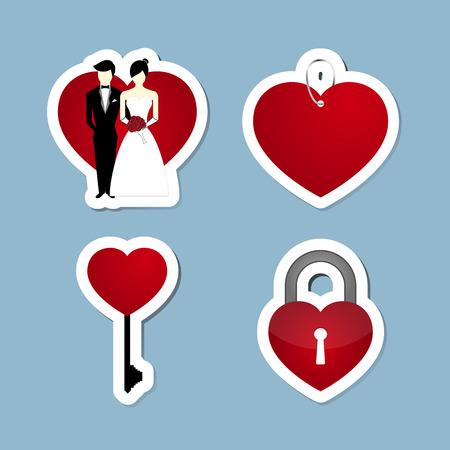 soul mate: love icon set vector illustration