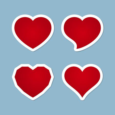 feb: red heart icon love concept vector illustration Illustration