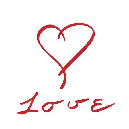 forme: c?ur; vecteur; forme; amour; icône; signe; doux; la passion; rouge; symbole; illustration; Valentin; amour; février; dessiné à la main Illustration