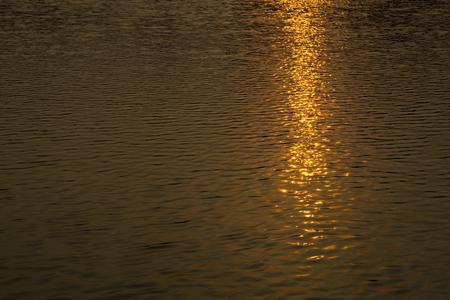 reflex: Reflex of sunset in water