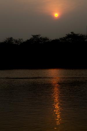 reflex: Sunset with reflex in water