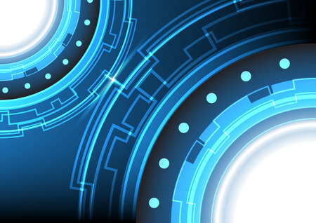 technology background: abstract circle technology background illustration