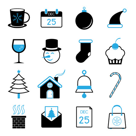 christmas icon: Christmas icon set vector illustration Illustration