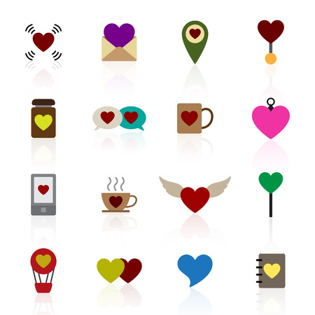 Valentine icon set vector illustration Illustration