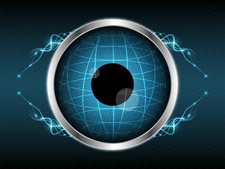 Abstract eye globe light line element shape design vector illustration background