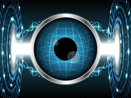 Abstract eye globe technology design vector illustration background