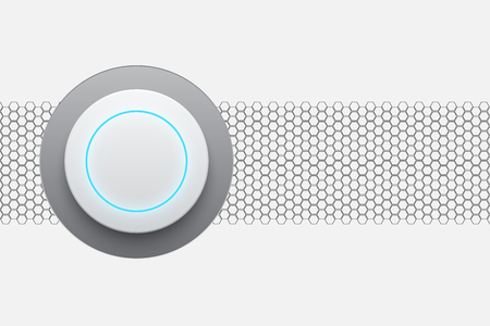 Abstract modern white circle button technology vector illustration background Illustration