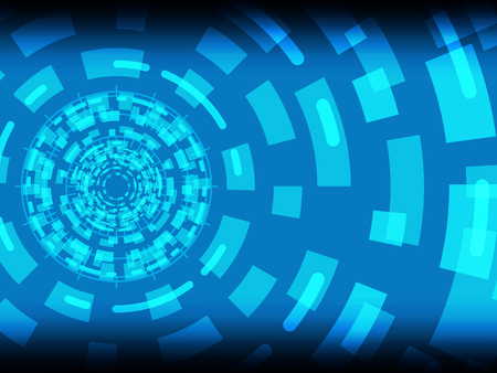 Cyber security safety concept, abstract circle technology digital background, vector illustration.