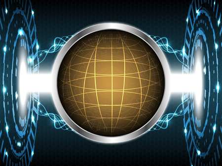 Abstract globe technology design vector illustration background