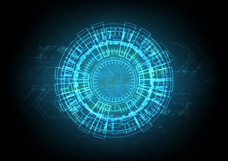 Abstract technology digital circle background vector illustration Illustration