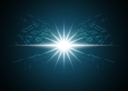 Abstract light ray technology digital background, vector illustration.