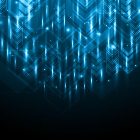 Abstract light arrow technology digital background, vector illustration. Illustration