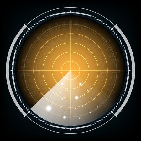 blip: technology digital future abstract background, radar screen, vector illustration. Illustration