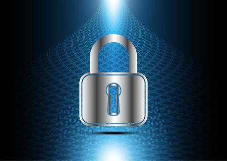technology digital future abstract, cyber security concept background, lock, vector illustration.