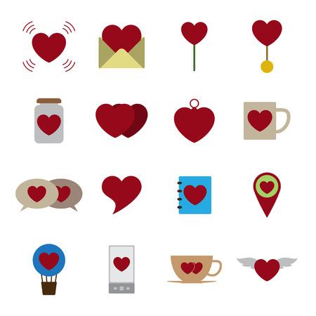 Valentine icon set vector illustration Illustration