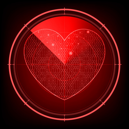 Radar screen love heart