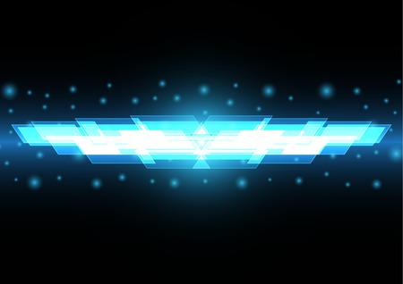 Technology digital future abstract light rectangle stripe background Illustration