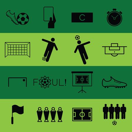 Soccer flat icon vector illustration