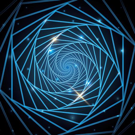 Abstract technology geometric  hexagonal background. Çizim
