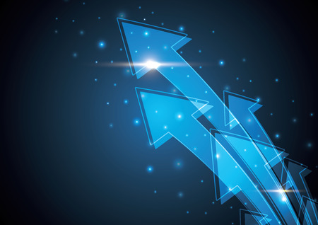 Blue abstract arrow stripe background illustration Illustration
