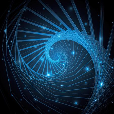 technology abstract hexagonal geometric line art vector illustration