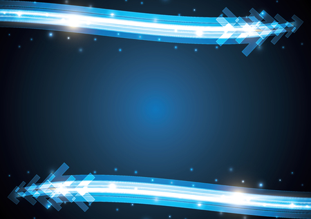technology abstract stripe background with copy-space vector illustration Illusztráció