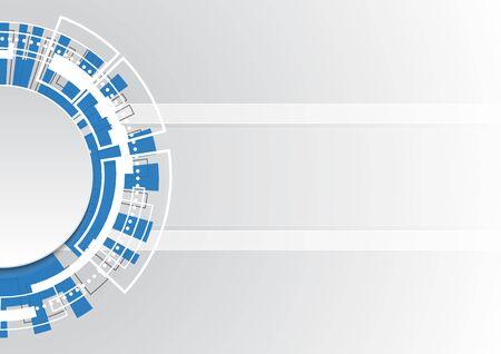 technology abstract circle background vector illustration Illusztráció
