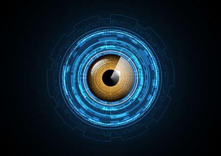 Technology abstract future eye radar circle background vector illustration