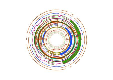 Technology abstract future circle background vector illustration Illustration