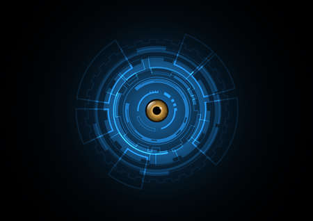 Technology abstract future eye security circle background vector illustration Illustration
