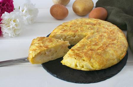 Tortillas de patatas,Spanish potato omelet  Banque d'images