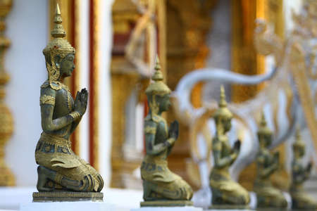 Buddha statue in Thailand wat thai Stock Photo