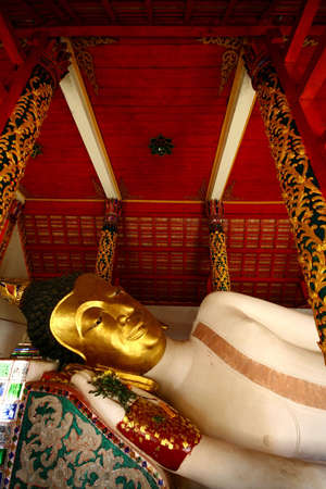 LAMPANG THAILAND- JANUARY 02  Buddha statue in temple WAT PONG SANOOK TAI on January 02, 2010 in Lampang, Thailand  Stock Photo - 13715152