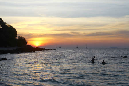 Color of sunset at  Lipe island, Thailand